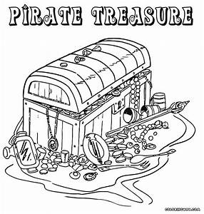 Pirate Treasure Coloring Page - Coloring Home