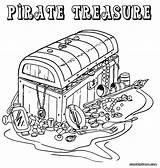 Pirate Coloring Pages Treasure Colouring Chest Printable Adult Map Template Popular Colorings Box Coloringhome sketch template