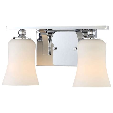 bathroom lighting collections home decorators collection 2 light chrome square bath
