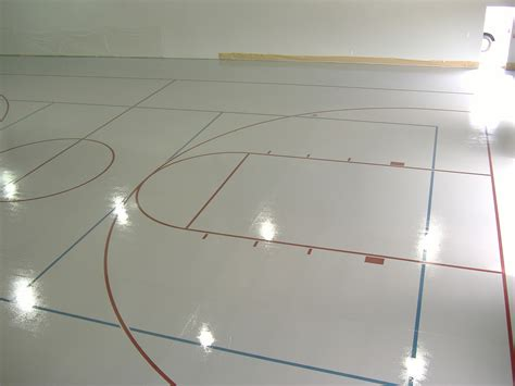 Gymnastics Floor Assembly by Epoxy Coated Floors Mid South Painting