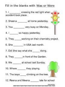 Helping Verbs Is Are Was Were Worksheet