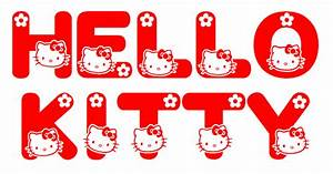 Hello Kitty Font | Just found this neat TrueType font ...