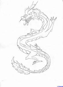 How to Draw a Chinese Sky Dragon, Step by Step, Dragons ...