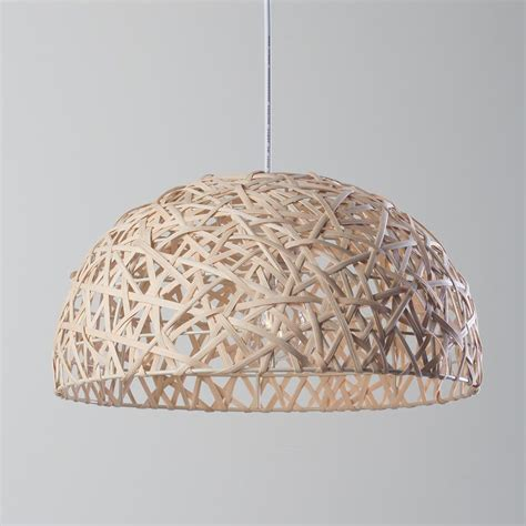 fresh fit linen honey 1 light wicker wave ceiling pendant natural from