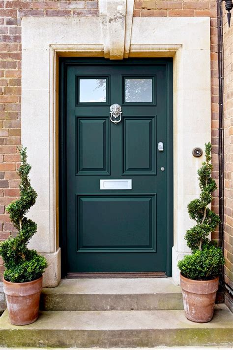 Dark Green Doors!  Front Door Freak