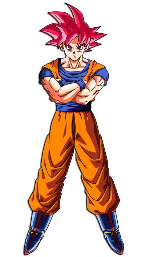 Goku (Super Saiyan God) by hirus4drawing deviantart com on