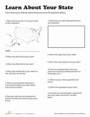 learn about your state the 50 states 4th grade social