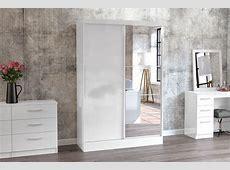 Birlea Furniture Lynx Lynx White 2 Door Sliding Wardrobe