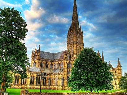 Salisbury Cathedral Architecture Hdr Wallpapers Definition Cathedrals