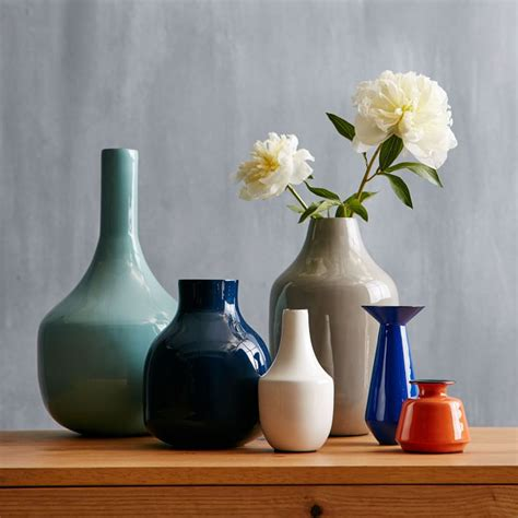 Colorful Vases by Object Of Desire Colorful Enamel Vases Gardenista
