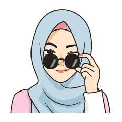gorgeous hijab girl animated set  stickers