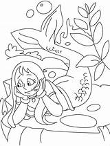 Mermaid Coloring Merman Pages Thinking 954px 56kb sketch template