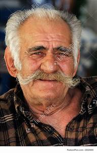 Image Of Senior Greek Man With A Big Mustache