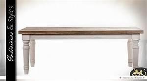 Table Basse Campagne Chic : table basse campagne chic patine blanche et bois naturel int rieurs styles ~ Teatrodelosmanantiales.com Idées de Décoration