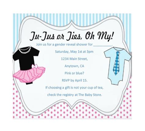 gender reveal templates 17 free gender reveal invitation templates template lab
