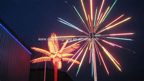 colorful led fireworks light for landscape decoration