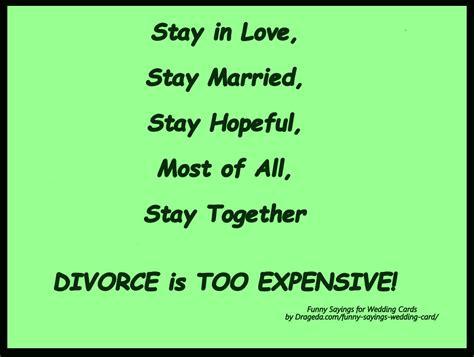 Funny Wedding Card Sayings