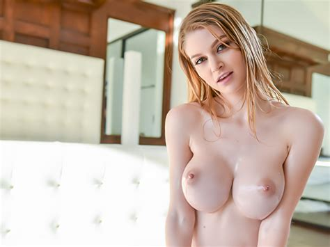 Naughty Russian Teen With Massive Tits Gets Oiled Up And