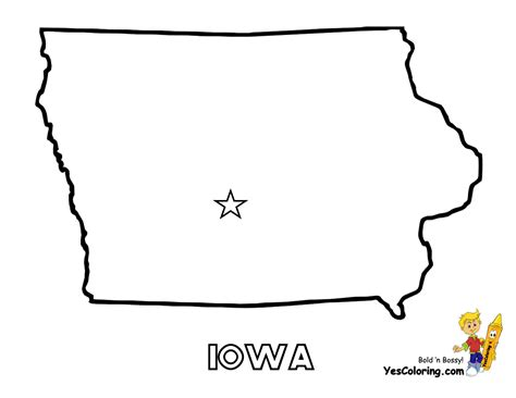 Iowa State Map Outline