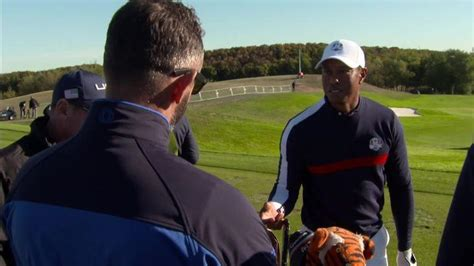 Tiger Woods pranks Andrew Coltart live on Sky Sports Ryder ...