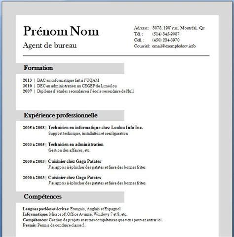 Exemple De Cv Gratuit à Télécharger by Exemple De Cv Gratuit A Imprimer Sle Resume