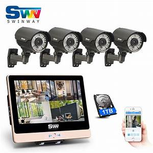 Plug And Play 4ch Poe Nvr Cctv System 12 U0026 39 Lcd Screen U00261080p