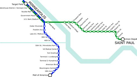 light rail mn green line list of metro minnesota light rail stations