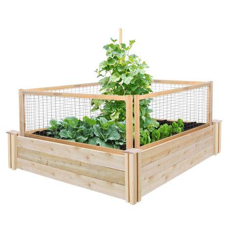 17005 greenes fence raised beds greenes fence 48 in x 48 in x 10 5 in cedar raised