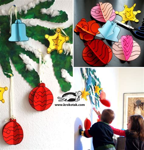krokotak diy christmas ornaments for school decoration