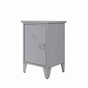 Table De Chevet Metal : table de chevet m tal ouverture gauche maxim par ~ Melissatoandfro.com Idées de Décoration