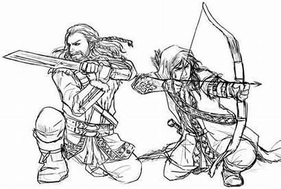 Kili Fili Hobbit Thorin Archer Kadeart Pose