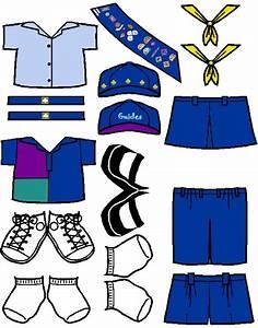 Australian Guide Uniform For Paper Doll In Color