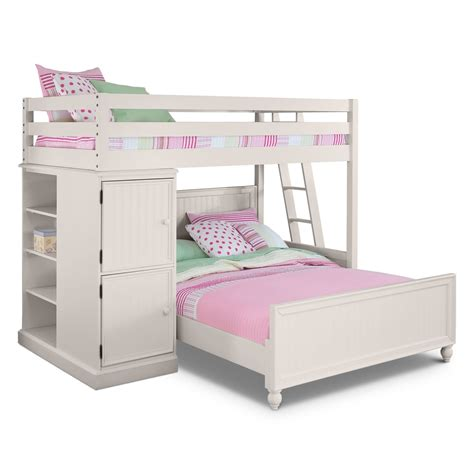 primitive dining room colorworks loft bed with bed white