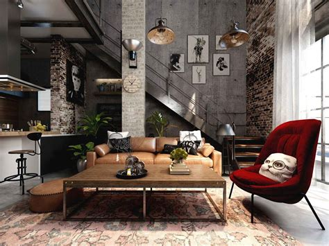 cool  cosy industrial style homes great idea hub