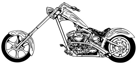 Motorcycle Clip Art Images Black And White 2019