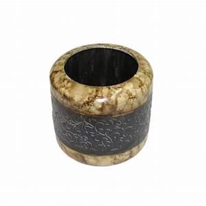 Cache Pot Noir : cache pot rond marron et noir de style baroque ~ Teatrodelosmanantiales.com Idées de Décoration