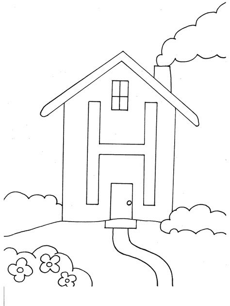 Coloring House by H House Alphabet Coloring Pages Coloring Page Book