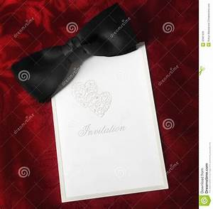 Black Tie Invitation Stock Image  Image Of Silk  Blank