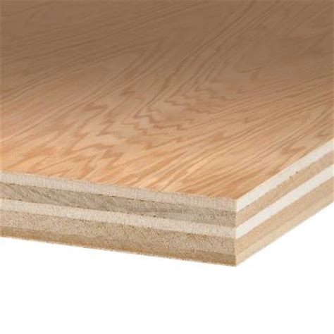 oak veneer home depot columbia forest products 3 4 in x 4 ft x 8 ft purebond red oak plywood 165956 the home depot