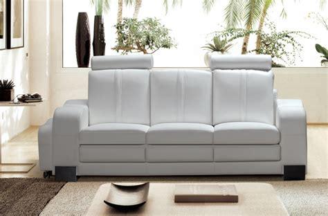 canap 233 3 places en cuir italien rosso blanc mobilier priv 233