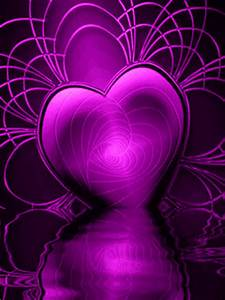 Animated Purple Heart Mobile Phone Wallpapers 240x320 Hd