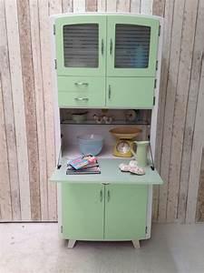 Vintage retro kitchen cabinet cupboard larder kitchenette for Retro kitchen cabinets