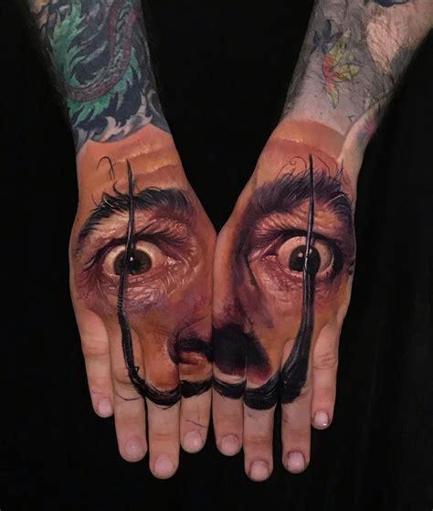 dali portrait  hands  tattoo design ideas