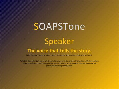 Soapstone Literature - soaps tone