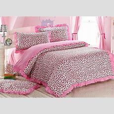 Sexy Pink Leopard Print 4 Piece Bedding Setsduvet Cover