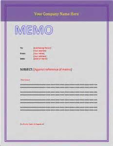 Microsoft Word Memo Template Sample