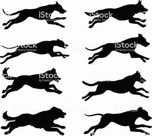 Running Dogs Silhouette Vector Illustration Stock Vector ...