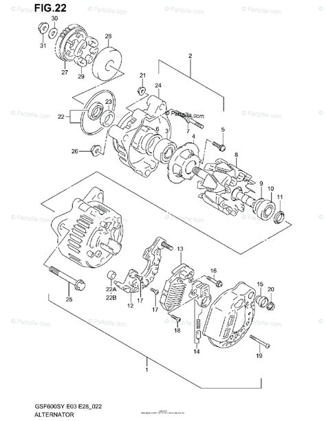 suzuki motorcycle 2000 oem parts diagram for alternator partzilla com
