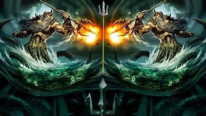 Poseidon Posejdon Wallpapers Greckiej Bog Morz Mitologii