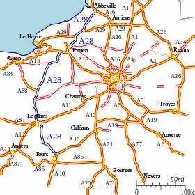 Carte De France Autoroute : autoroute a28 france wikip dia ~ Medecine-chirurgie-esthetiques.com Avis de Voitures